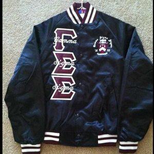 Gamma Sigma Sigma Black/Maroon Satin Jacket