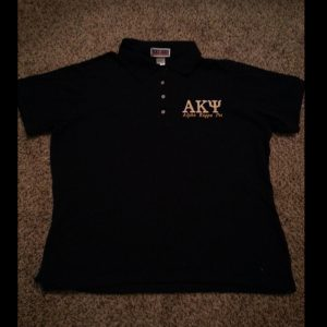 Alpha Kappa Psi Ladies Navy Polo
