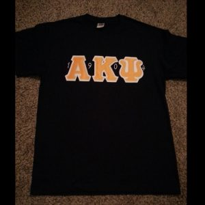 Alpha Kappa Psi Navy Shirt With Gold Letters