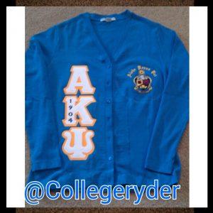 Alpha Kappa Psi Light Blue Cardigan