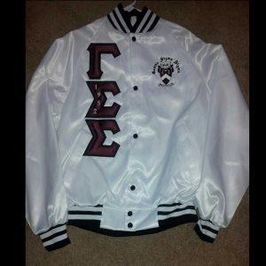Gamma Sigma Sigma White Satin Jacket