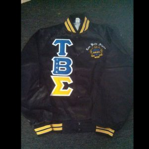 Tau Beta Sigma Black and Gold Satin Jacket