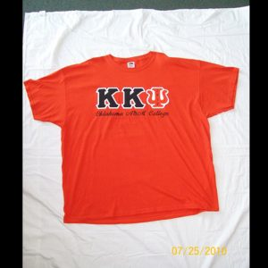 Kappa Kappa Psi Orange and Black Shirt