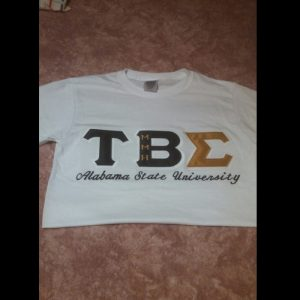 Tau Beta Sigma White School Shirt
