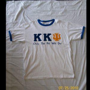 Kappa Kappa Psi White Ringer Shirt