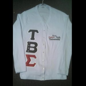 Tau Beta Sigma White Cardigan (T.T.)