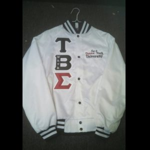 Tau Beta Sigma White Satin Jacket (T.T.)