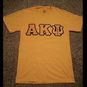 Alpha Kappa Psi Gold Shirt