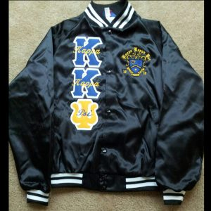 Kappa Kappa Psi Black/White Satin Jacket