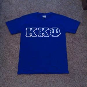 Kappa Kappa Psi Blue Shirt with Blue/White Letters
