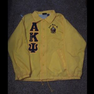 Alpha Kappa Psi Gold Jacket With Navy Letters