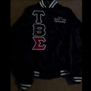 Tau Beta Sigma Black Satin Jacket T.T.