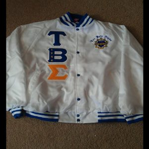 Tau Beta Sigma White Satin Jacket