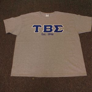 Tau Beta Sigma Gray Shirt All B/W letters