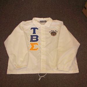 Tau Beta Sigma White Jacket Gold Sigma