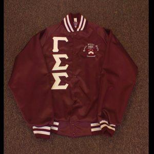 Gamma Sigma Sigma Maroon Satin Jacket W&M Letters