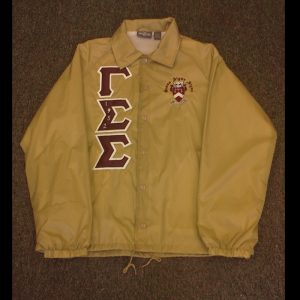 Gamma Sigma Sigma Gold Jacket M&W letters