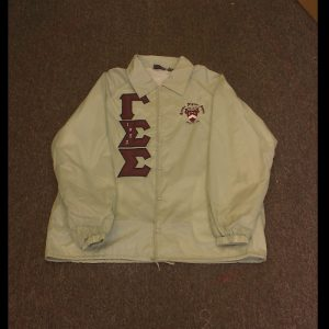 Gamma Sigma Sigma White Jacket M&B letters