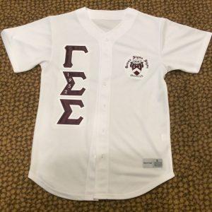 Gamma Sigma Sigma White Baseball Jersey