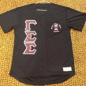 Gamma Sigma Sigma Black Baseball Jersey