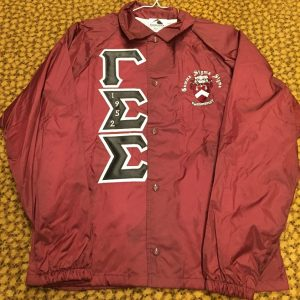 Gamma Sigma Sigma Maroon Jacket B/W letters