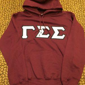 Gamma Sigma Sigma Maroon Hoodie w/B Letters