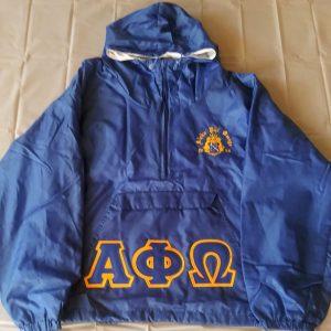 Alpha Phi Omega Blue Pullover Jacket