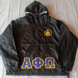 Alpha Phi Omega  Blk Pullover Jacket