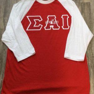 Sigma Alpha Iota Raglan Shirt Red/White