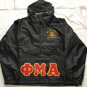 Phi Mu Alpha Black Pullover Jacket