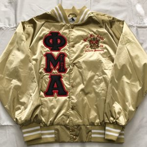 Phi Mu Alpha Metallic Gold Satin Jacket