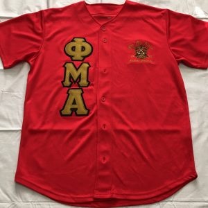 Phi Mu Alpha Red Baseball Jersey