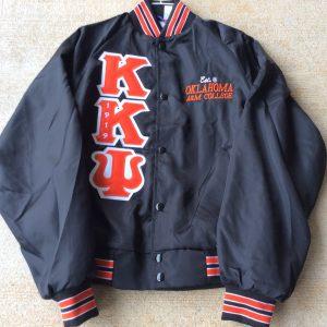 Kappa Kappa Psi Black Satin Orange/White Trim