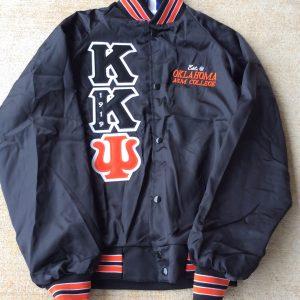 Kappa Kappa Psi Black Satin Orange/Wht Trim & Letters