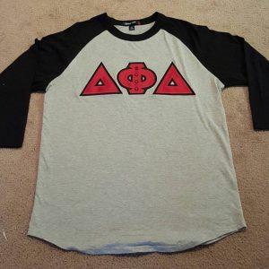 Delta Phi Delta Grey/Blk Raglan Shirt
