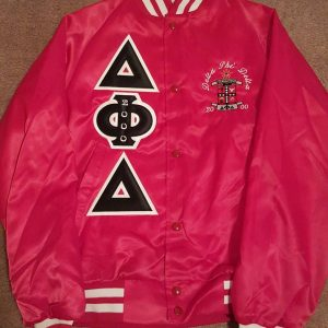 Delta Phi Delta Red Satin Jacket
