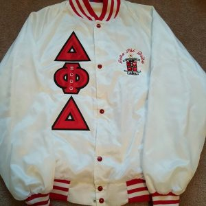 Delta Phi Delta White Satin Jacket