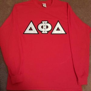 Delta Phi Delta Red Long Sleeve Shirt
