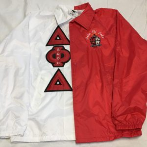 Delta Phi Delta White/Red Split Jacket
