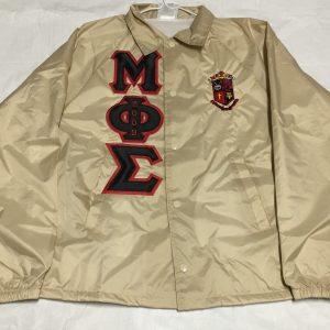 Mu Phi Sigma Khaki Jacket Blk/Red Letters