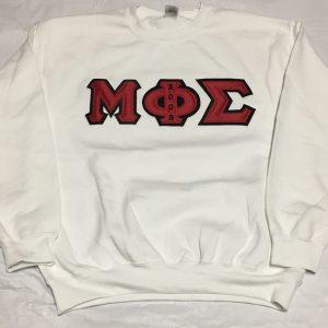 Mu Phi Sigma White Sweatshirt