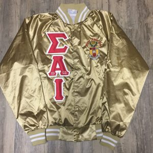 Sigma Alpha Iota Metallic Gold Satin Jacket