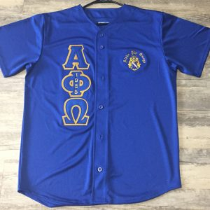 Alpha Phi Omega Blue Baseball Jersey