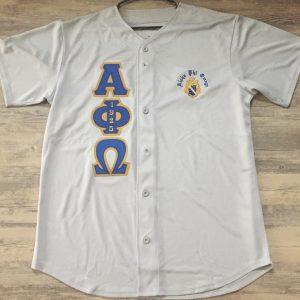Alpha Phi Omega Grey Baseball Jersey