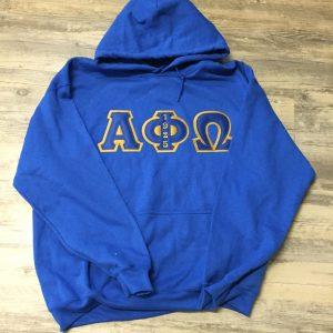 Alpha Phi Omega Blue Hoodie