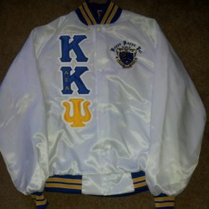 Kappa Kappa Psi White Satin Jacket B/G Trim