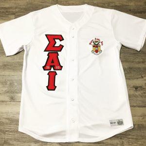 Sigma Alpha Iota White Baseball Jersey