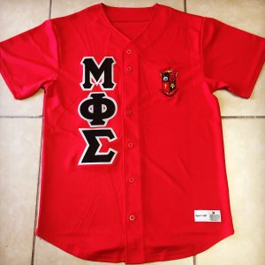 Mu Phi Sigma Red Baseball Jersey