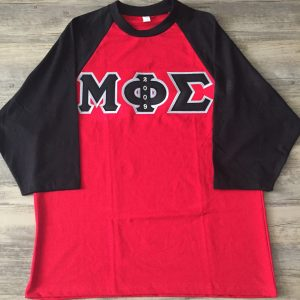 Mu Phi Sigma Red/Blk Raglan Shirt