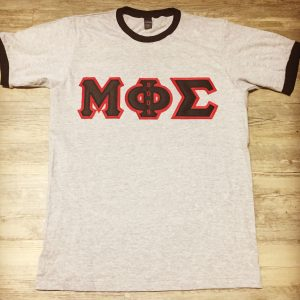 Mu Phi Sigma Grey/Blk Ringer Shirt